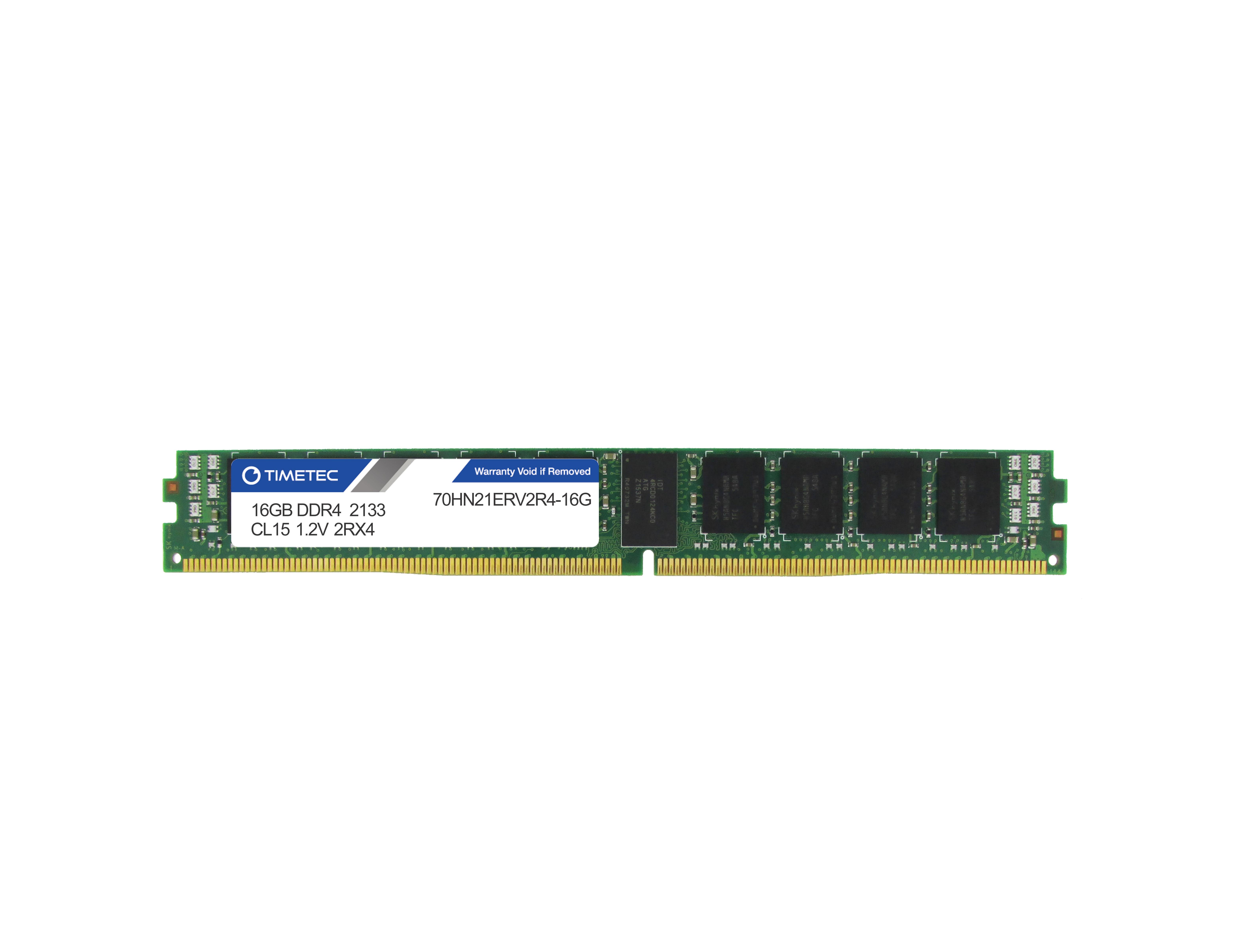 Timetec 16gb Ddr4 2133 Rdimm Vlp Memory Of Samsung Server Pc3 12800r Ecc 70hn21erv2r4 16g