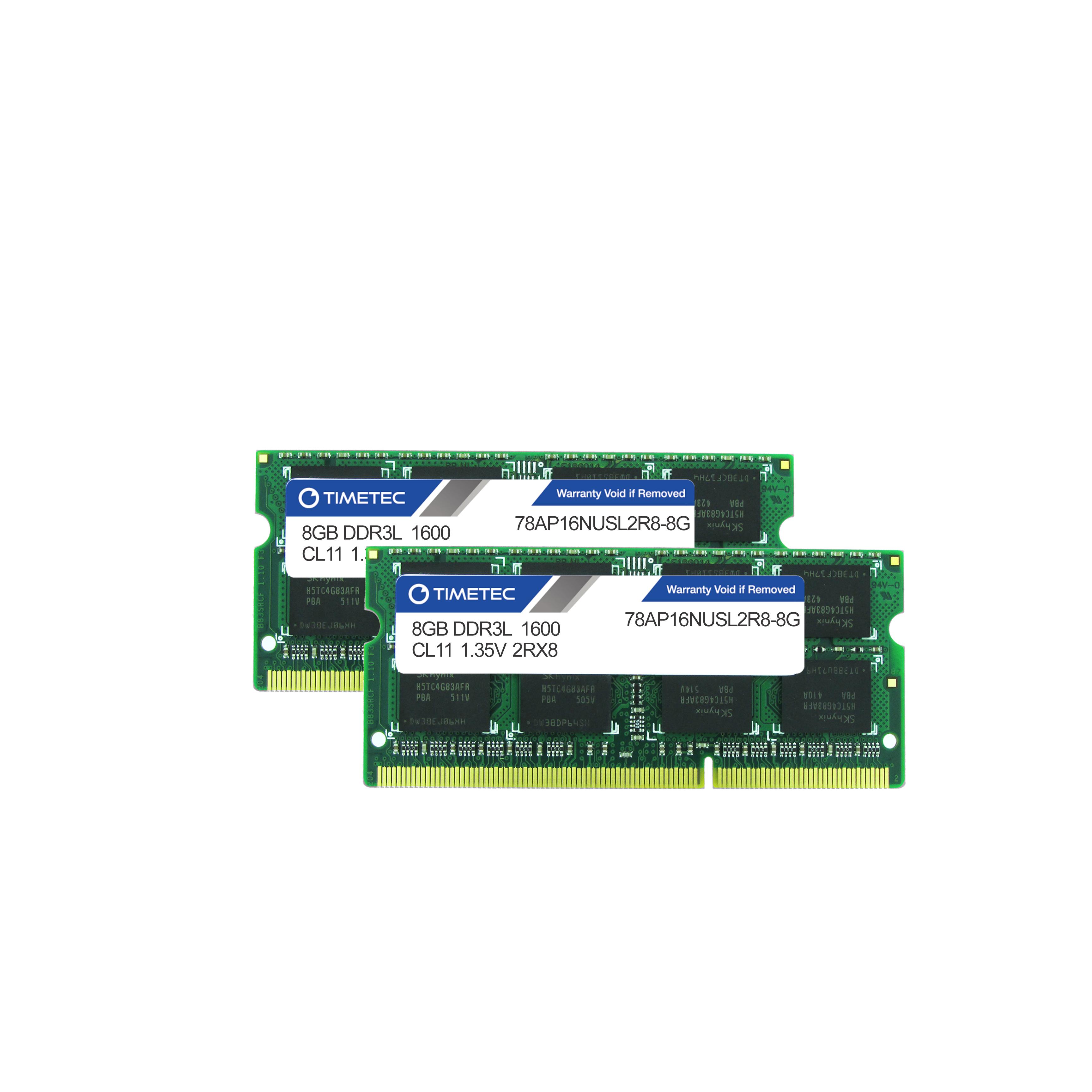 Timetec 16gb Kit 2 X 8gb Ddr3l 1600 Sodimm Memory For Mac